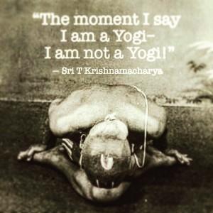 not a yogi